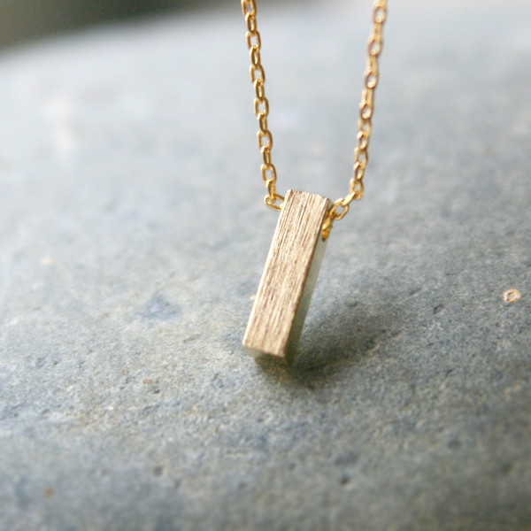 gold bar necklace gold tone blushed bar pendant necklace