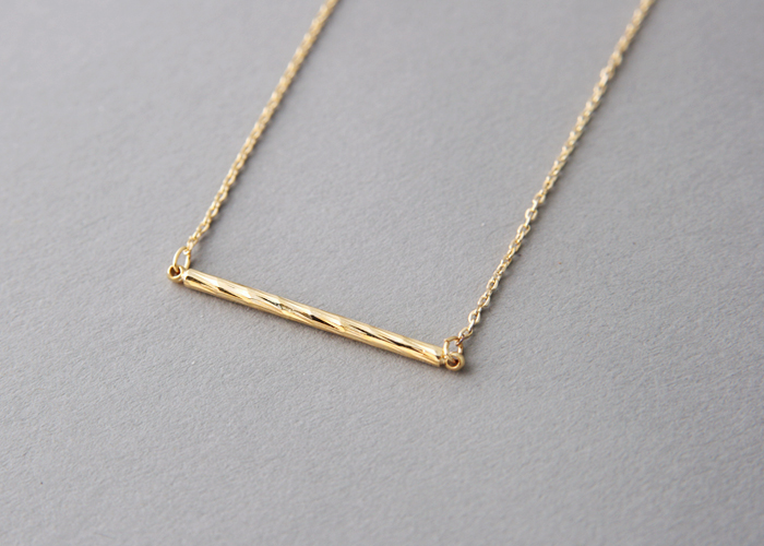 swirled shimmer bar charm necklace gold bar jewelry
